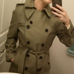 Coach Green Trench Coat